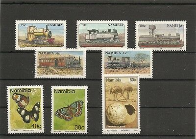 lot NAMIBIE ; timbres neufs n°2( trains , papillons , fossiles )