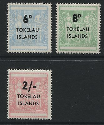 Tokelau Islands: 1966 NZ Postal Fiscal set of 3 stamps SG6-8 LMM ZZ330