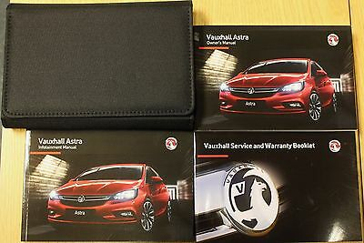 Vauxhall Astra K Owners Manual Handbook Service Book Infotainment 2015-2017 Pack