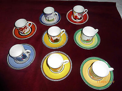 Clarice Cliff Wedgwood Cafe Chic 16 piece coffee set