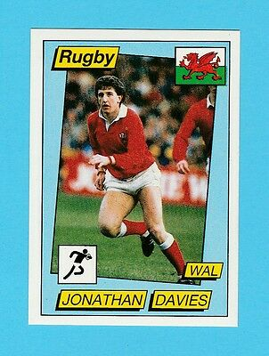 Rugby - Panini - Supersport Rugby Sticker No. 136 -  Jonathan  Davies  - 1986