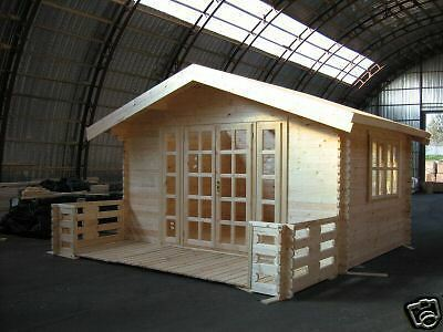 ROME Log Cabin 3 x 3m, 44mm Summer House,Garden Shed