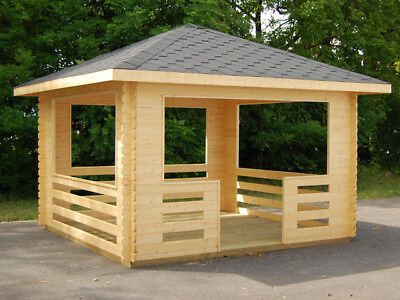 Tico Log Cabin 3.50 x 3.50m Summer Garden House Shed