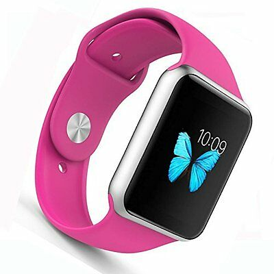 Apple Watch Band Soft Silicone Sport Style Replacement iWatch Strap 38mm Pink