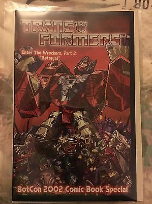 3H TRANSFORMERS BOTCON 2002 ENTER THE WRECKERS Comic BAGGED/BOARDED Rare