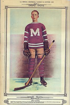 La Presse Montreal Jan 26, , 1929  Red Dutton Montreal Maroons