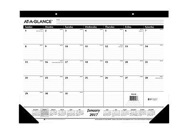 2017 Desk Calendar Pad Large Monthly Daily Day Office Desktop Planner Schedule