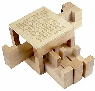 KINGOU Chinese 3D Wooden Inside Story Puzzle Interlocked Burr Puzzles Magic