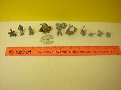 Vintage Lead Gaming Figures - Warriors - Soldiers - Horses - Gothic -