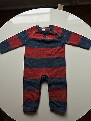 BABY GAP Striped Sweater Romper Outfit Size 12-18 Months