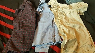 Bundle of boys shirts age 7/8 from next, river island and gap