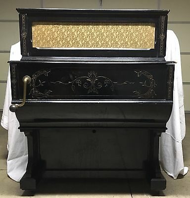 Antique Full-Size Barrel Organ Street Piano, Pombia Novara, Italy Ships Free