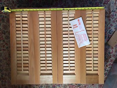 "New Old Stock Shutters Each Panel 7x23"". 4 Interior Shutters See Pics"