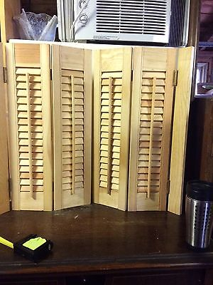 New Old Stock Wooden Shutters Interior