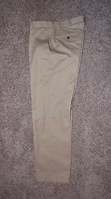 BROOOKS BROTHERS FLAT FRONT CHINO PANTS  33 x 30