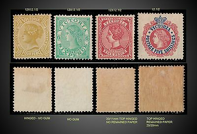 1905 -1910 Victoria Lot Mint Ng,h, Lh  Wmk 13 Scott 223,225,227,229