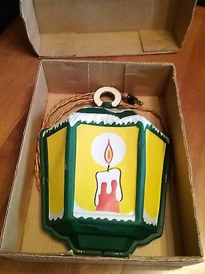 Vintage Noma Illuminated Old English Lantern Christmas Light Original Box
