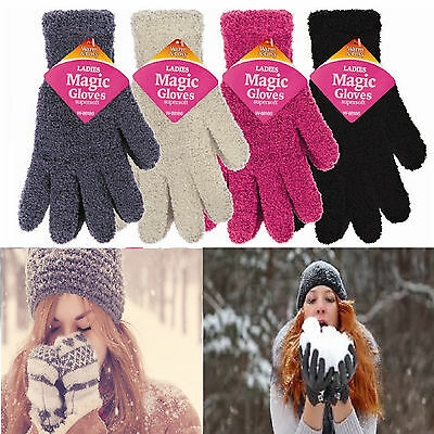 Ladies Women's Supersoft Gloves magic winter wooly warm soft & fluffy