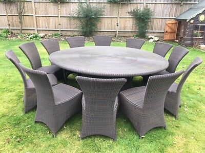 Garden table and 12 chair set