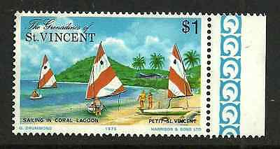 Grenadines Of St Vincent Postal Issue Mint Stamp - 1975 - Sailing Lagoon $1