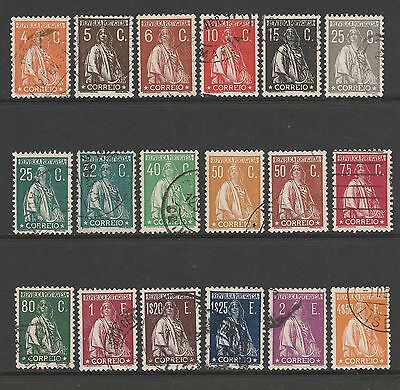 [Portugal 1930 -  Ceres - Retouched image] complete used set