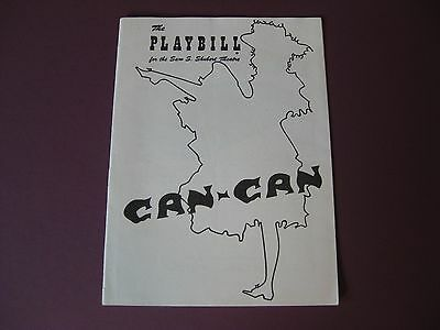 Original 1952 Playbill for Can-Can Shubert Theater / Fantastic Condition!!