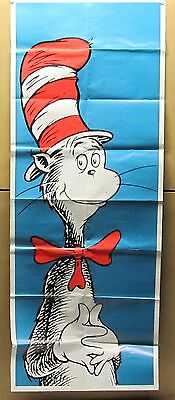 Vintage Dr. Suess Cat In The Hat Folded Poster 1970