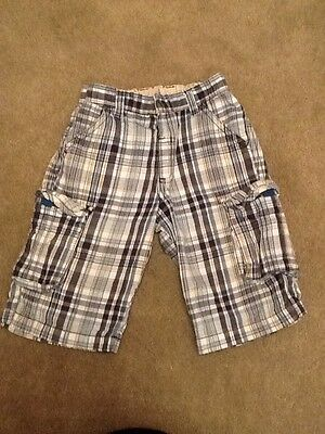 Boys Shorts Checked Age 4-5 Years Cotton