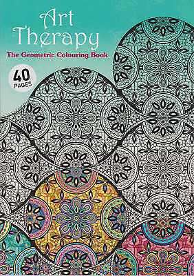 Adult Colouring Geometrics Art Therapy 40 Designs A4 Size New #4
