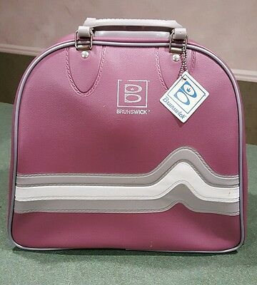 Vintage Brunswick Rose Pink Bowling Ball Bag - Almost Perfect MINT Condition!