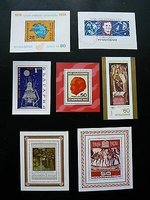BULGARIA - miniature sheets selection - all shown (mainly mint)