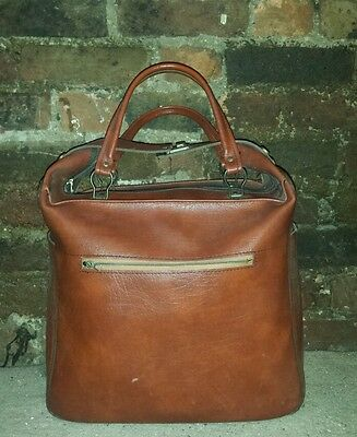 Vintage Brown Leather Style Holdall Bag