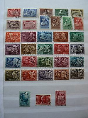 HUNGARY 1948 selection including some complete sets