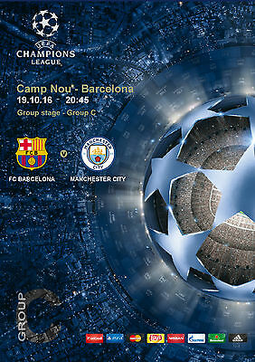 Programme Pirate Barcelona Manchester City Cl Champions League 2016 2017
