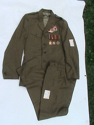 POLISH OLD OFFICER UNIFORM with medals - RARE- BEAUTIFULL CONDITION !!!