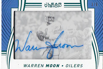 Warren Moon 2016 Panini Clear Vision Football  Auto Sp#2/5