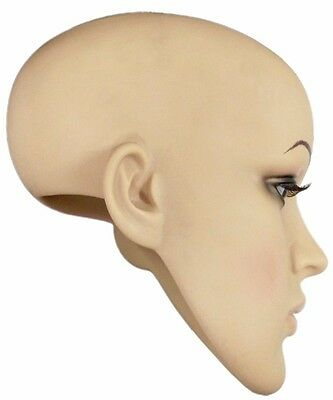 MN-SH Plastic Female Realistic Head Attachment for Dress Form/Mannequin