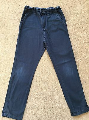 Boys Navy Trousers Age 7-8 Years.