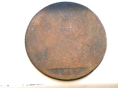 Extremely RARE DATE 1869 Queen Victoria ONE PENNY   Coin