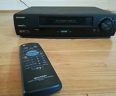 Sharp vhs video working cassette player recorder w remote long play vc  Gatwick