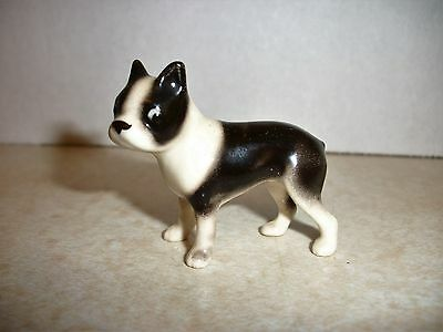 Miniature Hagen Renaker Boston Terrier Porcelain Figurine Dog