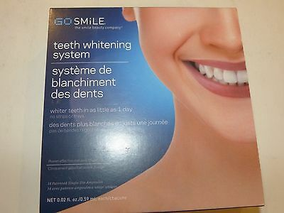 Go Smile Whitening System 14 Patented Single-Use Ampoules Each Size 0.02 oz NIB