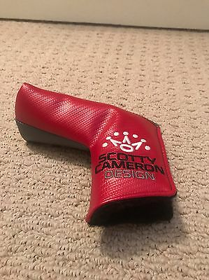 Scotty Cameron Titleist Putter Cover Milled Putters Red And Grey New Never Used