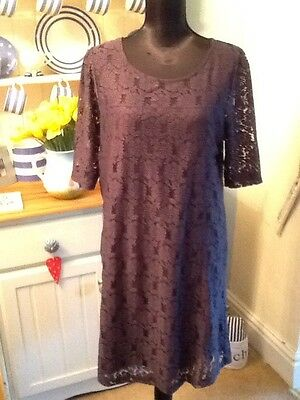 dorothy perkins grey lace dress size 16