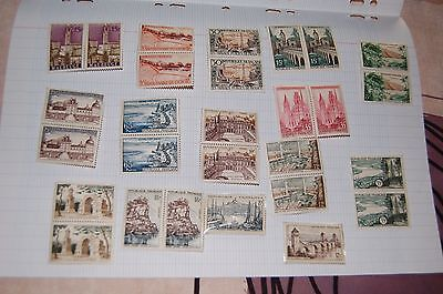 lot 28 timbres neufs annee50? ville france
