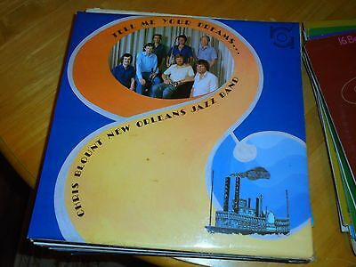 Lp/ Chris Blounts New Orleans Jazz Band / Tell Me Your Dreams (1981 Uk Rainbow S