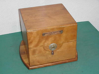 Vintage Hamilton Watch Co. Model 21  22 Chronometer Wooden Box Case