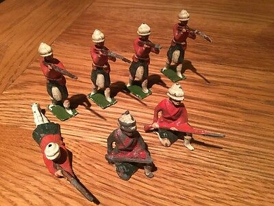Vintage Pre War Lead Soldiers With Original Paint x 7