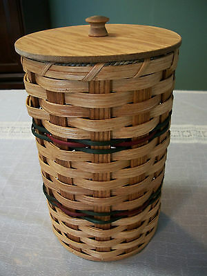 Toilet Tissue Amish Basket Holds Two Rolls Plain with Green & Burgundy In Stock