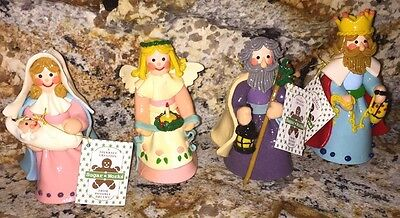 Sugar Works-Possible Dreams Folkcraft Creation Lot Of 4 Christmas Figurines 1993